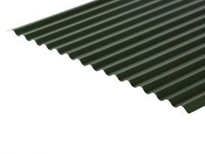 13/3 Corrugated 0.5 Thick PVC Plastisol Coated Roof Sheet