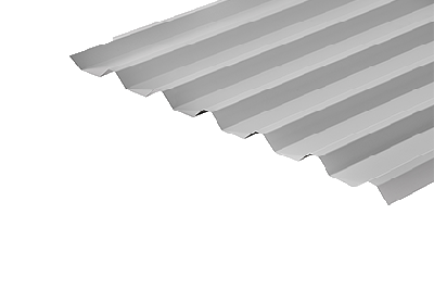 34/1000 Box Profile 0.7 Thick White PVC Plastisol Coated Roof Sheet