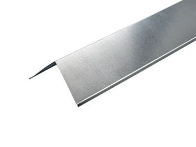 90º Barge Board Corner Flashings in Plain Galvanised Finished - 3m 200mm x 200mm