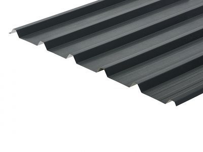 32/1000 Box Profile 0.7 Thick Anthracite PVC Plastisol Coated Roof Sheet