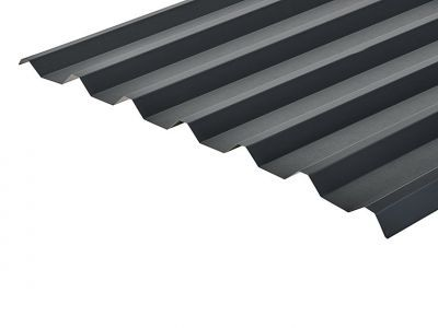 34/1000 Box Profile 0.7 Thick Anthracite PVC Plastisol Coated Roof Sheet