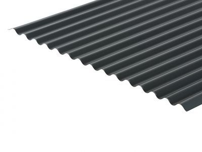 13/3 Corrugated 0.7 Thick Anthracite PVC Plastisol Coated Roof Sheet