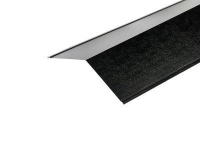 Ridge Flashings in Black PVC Plastisol Finish in 3m 200 x 200mm