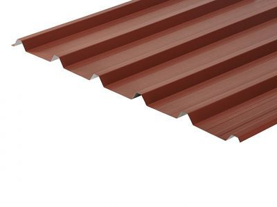 32/1000 Box Profile 0.7 Thick Chestnut PVC Plastisol Coated Roof Sheet