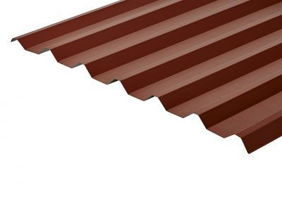 34/1000 Box Profile 0.7 Thick Chestnut PVC Plastisol Coated Roof Sheet