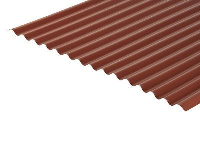 13/3 Corrugated 0.7 Thick Chestnut PVC Plastisol Coated Roof Sheet