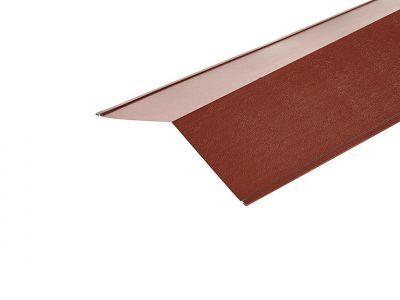 Ridge Flashings in Chestnut PVC Plastisol Finish in 3m 200 x 200mm