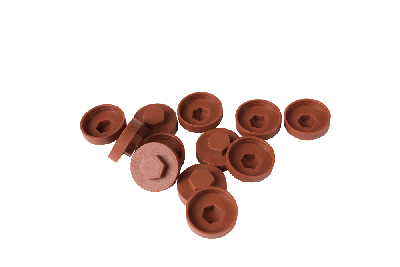 HC19 19mm colour caps Copper Brown (Pack of 100)