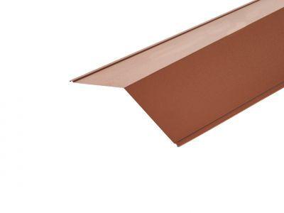 Ridge Flashing in Copper Brown Prelaq Mica - 200 X 200mm