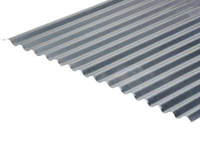 CLEARANCE - 13/3 Corrugated 0.5 Thick Galvanised Roof Sheet 8ft length