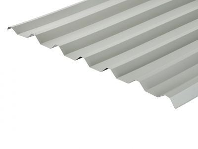 34/1000 Box Profile 0.7 Thick Goosewing Grey PVC Plastisol Coated Roof Sheet
