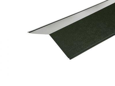 Ridge Flashings in Juniper Green PVC Plastisol Finish in 3m 200 x 200mm