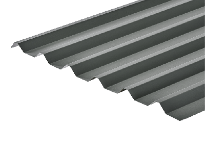 34/1000 Box Profile 0.7 Thick Merlin Grey PVC Plastisol Coated Roof Sheet