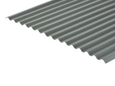 13/3 Corrugated 0.7 Thick Merlin Grey PVC Plastisol Coated Roof Sheet