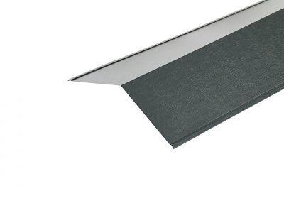 Ridge Flashings in Merlin Grey PVC Plastisol Finish in 3m 200 x 200mm