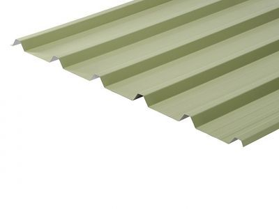 32/1000 Box Profile 0.7 Thick Moorland Green PVC Plastisol Coated Roof Sheet