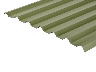 34/1000 Box Profile 0.7 Thick Moorland Green PVC Plastisol Coated Roof Sheet