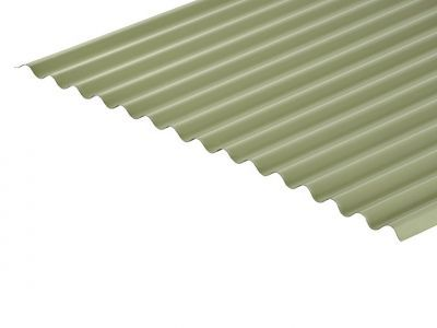13/3 Corrugated 0.7 Thick Moorland Green PVC Plastisol Coated Roof Sheet