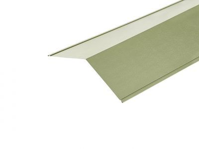 Ridge Flashings in Moorland Green PVC Plastisol Finish in 3m 200 x 200mm