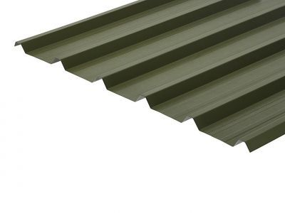 32/1000 Box Profile 0.7 Thick Olive Green PVC Plastisol Coated Roof Sheet