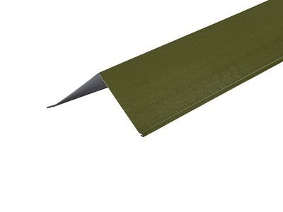 Barge Flashings 3m  200 x 200mm in Olive Green - PVC Plastisol finish