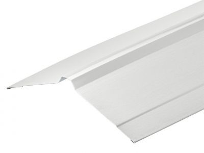 Nordic Ridge Flashings in White Polyester Paint  Finish in 3m 195 x 195mm