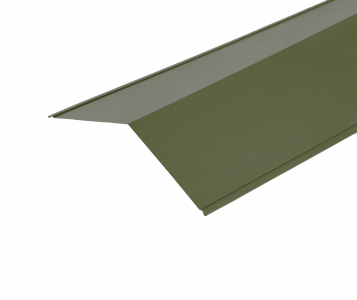 Ridge Flashings in Olive Green PVC Plastisol Finish in 3m 200 x 200mm