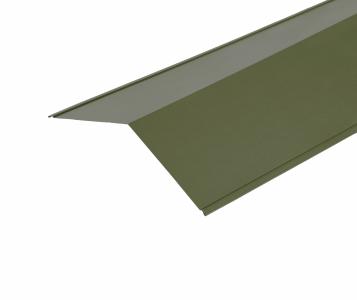 Ridge Flashings in Olive Green PVC Plastisol Finish - 3m 150x 150mm