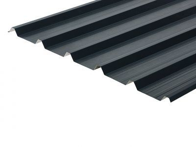 32/1000 Box Profile 0.7 Thick Slate Blue PVC Plastisol Coated Roof Sheet