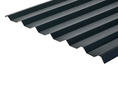 34/1000 Box Profile 0.7 Thick Slate Blue PVC Plastisol Coated Roof Sheet
