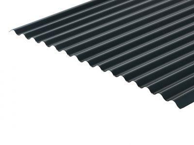 13/3 Corrugated 0.7 Thick Slate Blue PVC Plastisol Coated Roof Sheet