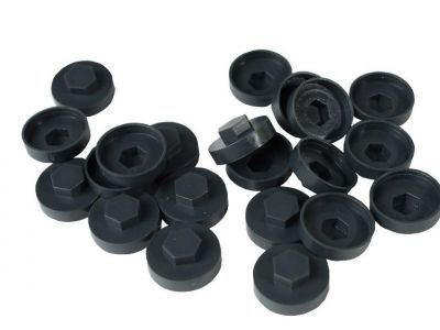 HC19 19mm colour caps Anthracite/R7016 (Pack of 100)