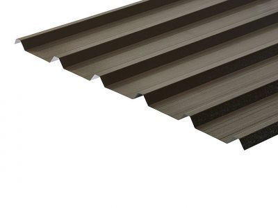 32/1000 Box Profile 0.7 Thick Vandyke Brown PVC Plastisol Coated Roof Sheet