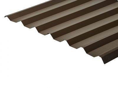 34/1000 Box Profile 0.7 Thick Vandyke Brown PVC Plastisol Coated Roof Sheet