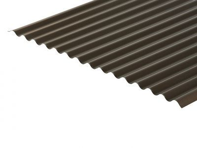 13/3 Corrugated 0.7 Thick Vandyke Brown PVC Plastisol Coated Roof Sheet