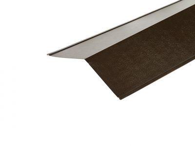 Ridge Flashings in Vandyke Brown PVC Plastisol Finish in 3m 200 x 200mm