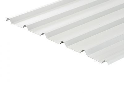 32/1000 Box Profile 0.7 Thick White PVC Plastisol Coated Roof Sheet