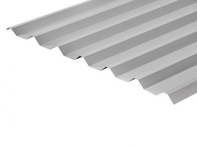 34/1000 Box Profile 0.7 Thick White Polyester Paint Coated Roof Sheet