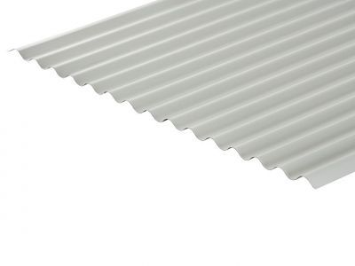 13/3 Corrugated 0.5 Thick White Polyester Paint Coated Roof Sheet
