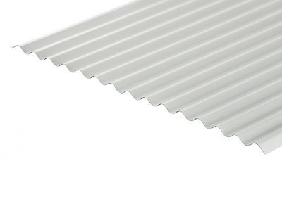 13/3 Corrugated 0.7 Thick White PVC Plastisol Coated Roof Sheet