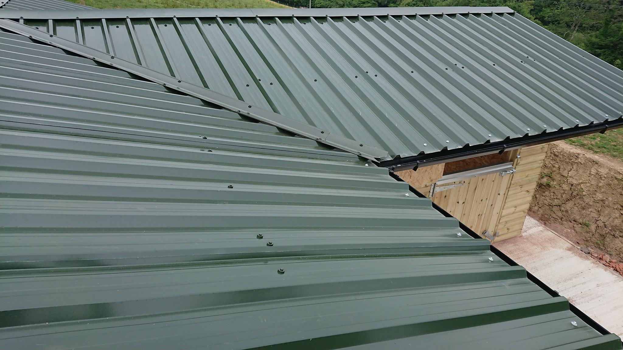 Box Profile 32/1000 Juniper Green Roofing Sheets