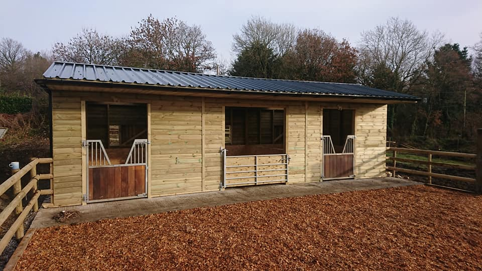 Cladco 32/1000 Box Profile Roofing Sheets on Stable Block
