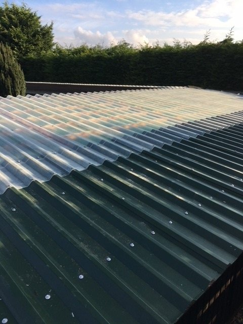 The Garden Mews luxury Hotel for Cats using Cladco Roofing Sheets