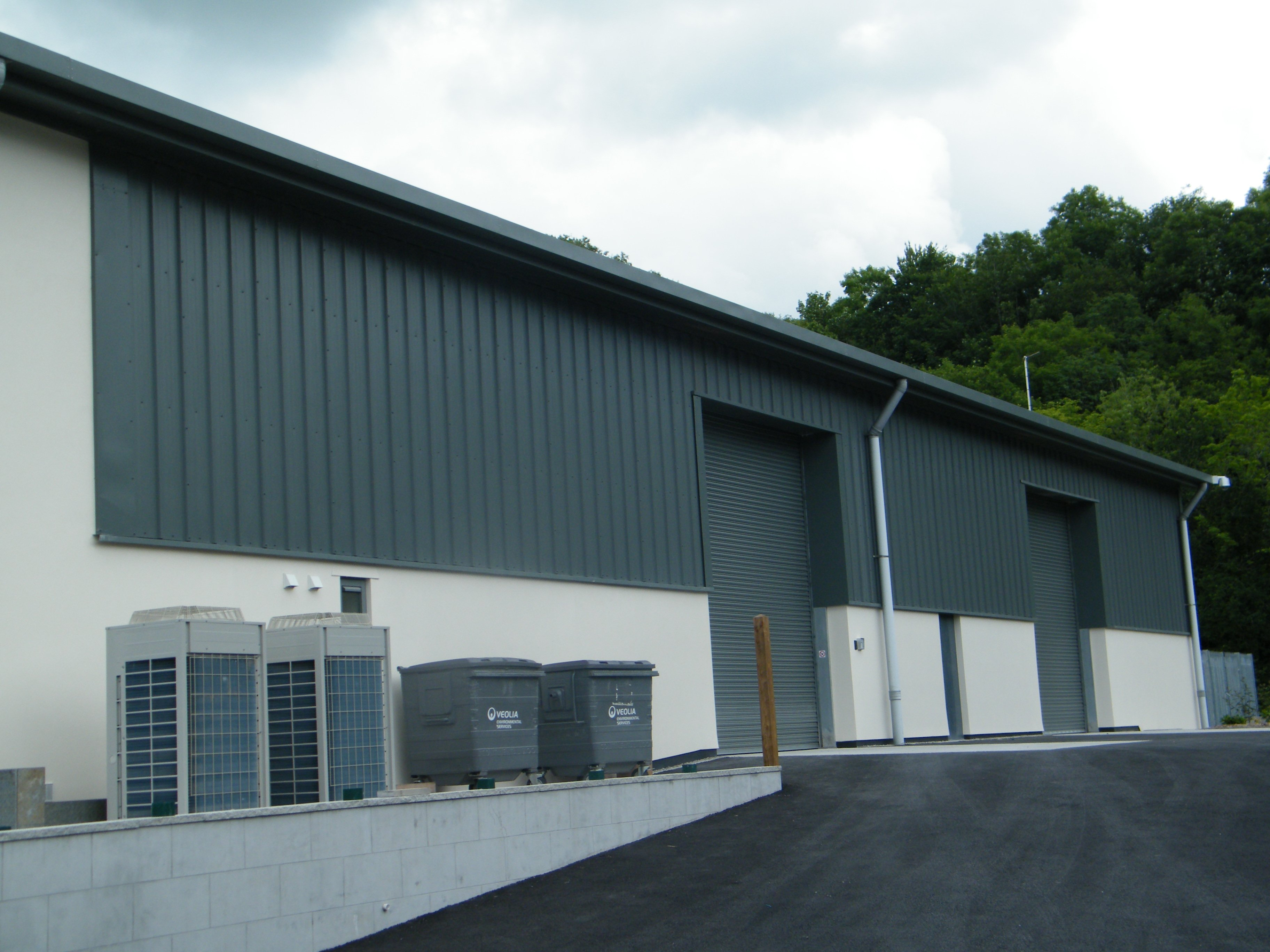 Cladco Side Cladding Sheets on Industrial unit.