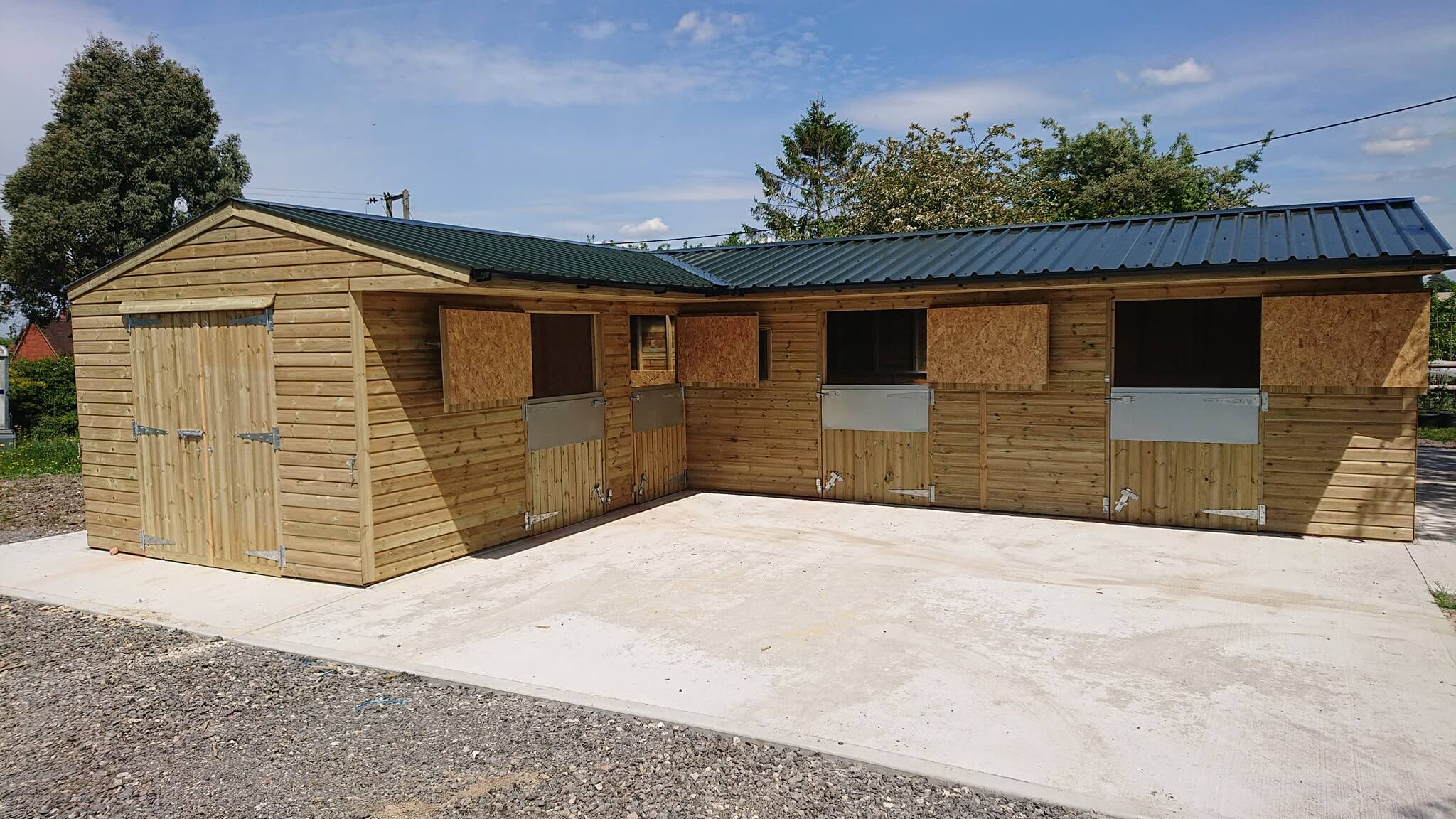 New stable block at Devonshire Stables