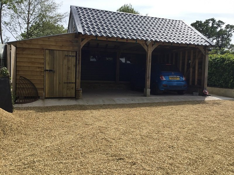 Cladco Graphite Grey Tile Form Sheeting on Garage