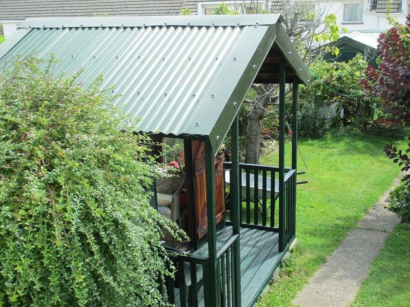 Juniper Green Corrugated Garden Building