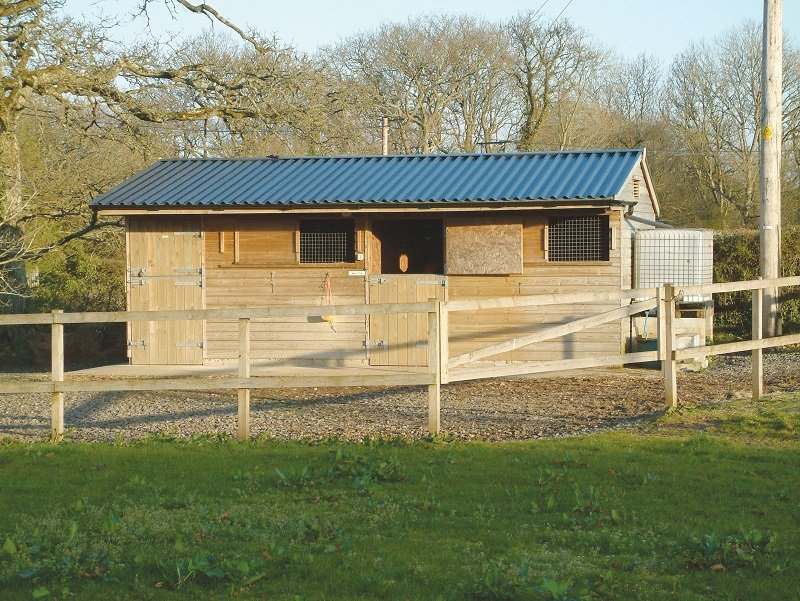 Stable Yard with added storage using Cladco Box Profile 34/1000 Sheeting