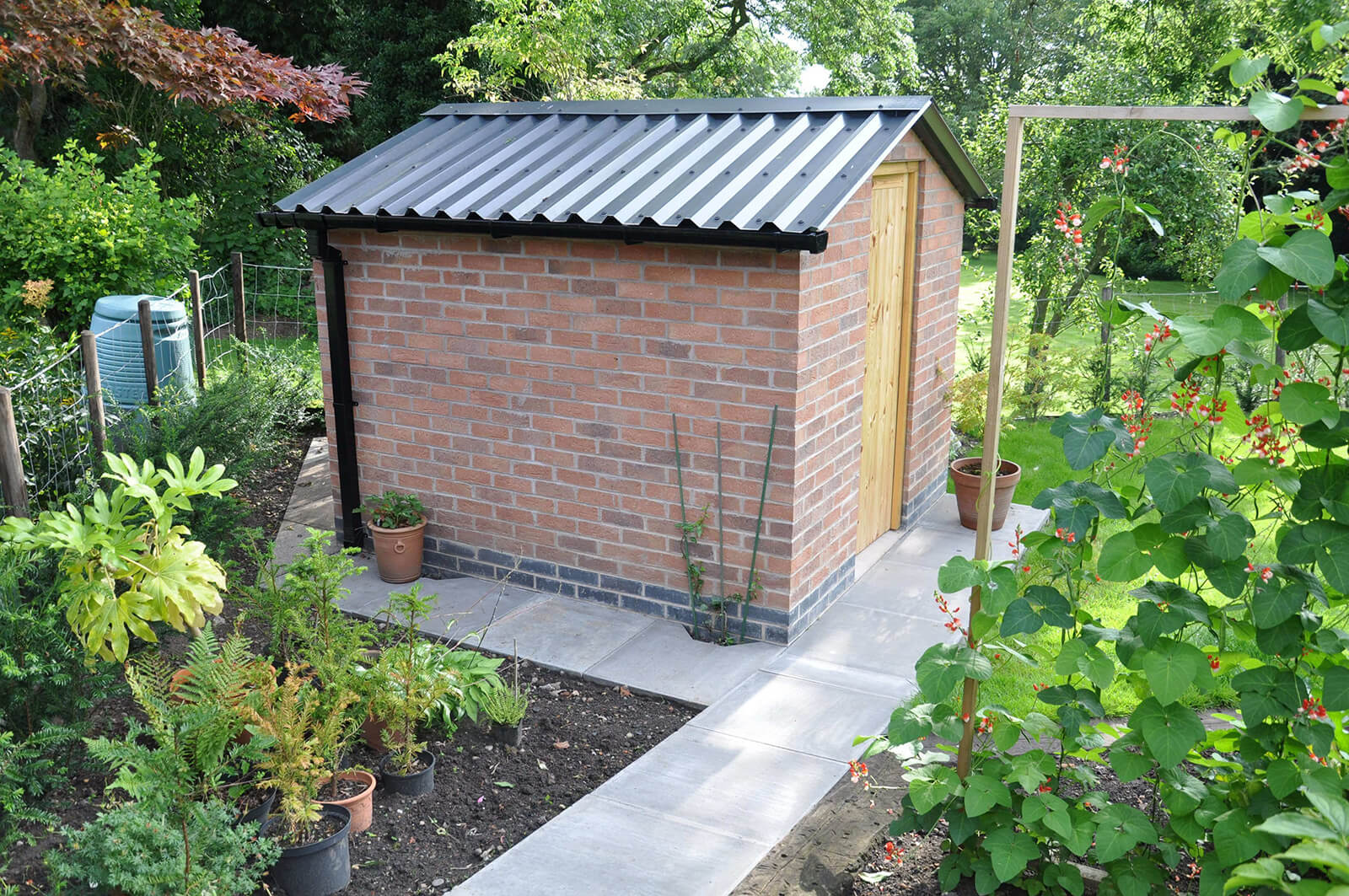 Anthracite PVC Box Profile Garden Shed