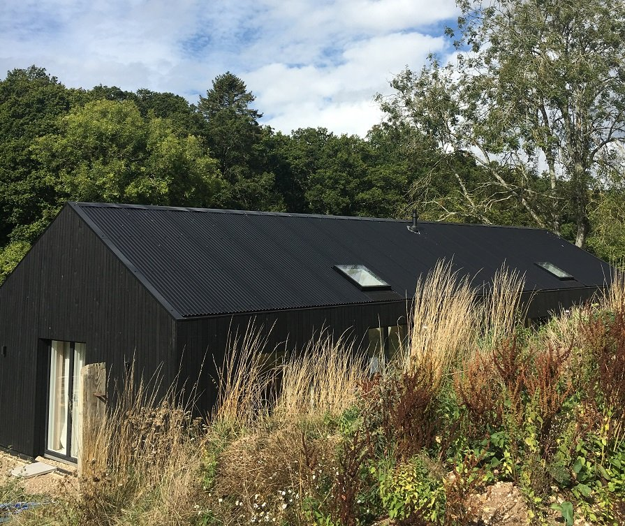 Black Corrugated Roof Sheets on new conversion